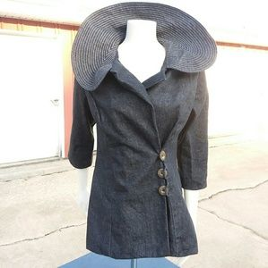 eShakti brand Beautiful Denim Jacket, Sz. 6!!